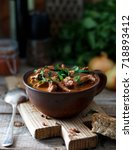 Small photo of Beef stew (goulash) - rustic style