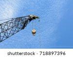 industrial crane | Shutterstock . vector #718897396