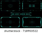 hud virtual futuristic elements ... | Shutterstock .eps vector #718903522