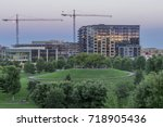 a medium shot of construction... | Shutterstock . vector #718905436