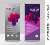 business roll up design... | Shutterstock .eps vector #718907536