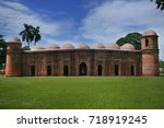 the sixty dome mosque or sha ... | Shutterstock . vector #718919245