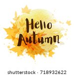 abstract autumn background with ... | Shutterstock .eps vector #718932622