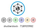 worldwide internet rounded icon.... | Shutterstock .eps vector #718935982