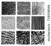 vector set of hand drawn... | Shutterstock .eps vector #718938046