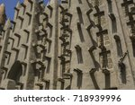 detail of the mud and wood... | Shutterstock . vector #718939996
