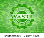 waste realistic green mosaic... | Shutterstock .eps vector #718944526