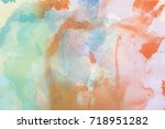 abstract multicolored... | Shutterstock . vector #718951282