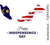 malaysia independence day....   Shutterstock .eps vector #718953592