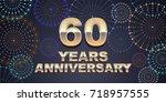 60 years anniversary vector...