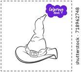 vector outline illustration of... | Shutterstock .eps vector #718962748