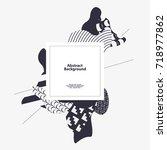 abstract modern geometric... | Shutterstock .eps vector #718977862