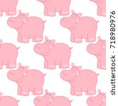 seamless pattern with cute...   Shutterstock .eps vector #718980976