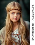 close up portrait of a... | Shutterstock . vector #718989196