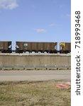 railroad boxcar in the union... | Shutterstock . vector #718993468