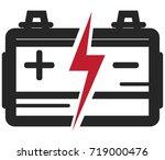 battery icon   illustration   Shutterstock .eps vector #719000476
