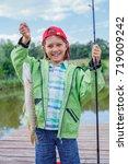 happy cute boy enjoyed the...   Shutterstock . vector #719009242