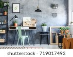 cactus in ceramic pot on... | Shutterstock . vector #719017492