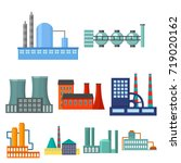 factory set icons in cartoon... | Shutterstock . vector #719020162