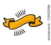 cartoon stylized ribbon with...