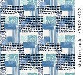 memphis seamless  pattern in...   Shutterstock .eps vector #719027452