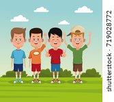 kids at park | Shutterstock .eps vector #719028772