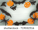 halloween holiday background... | Shutterstock . vector #719032516