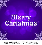 merry christmas of poster ... | Shutterstock . vector #719039386