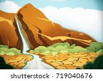 the environment of the wild... | Shutterstock . vector #719040676
