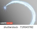 neon blurry circles at motion . ... | Shutterstock .eps vector #719045782