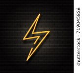 vector realistic isolated neon... | Shutterstock .eps vector #719045836