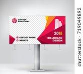 billboard banner design  a... | Shutterstock .eps vector #719049892