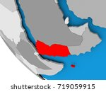 map of yemen in red on... | Shutterstock . vector #719059915