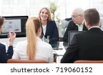 group of confident business... | Shutterstock . vector #719060152