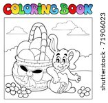coloring book with easter theme ... | Shutterstock .eps vector #71906023