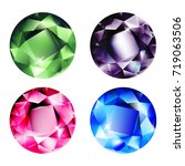 gems isolated on white... | Shutterstock .eps vector #719063506