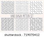 vector seamless wavy line... | Shutterstock .eps vector #719070412