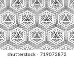 ornament with elements of black ... | Shutterstock . vector #719072872