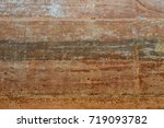 Small photo of Underground layers of earth, Soil layer wall.