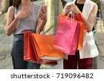 shopper women with them many... | Shutterstock . vector #719096482