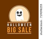 halloween sale style with ghost ... | Shutterstock .eps vector #719098255