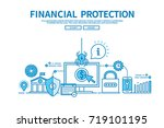 modern flat blue color line... | Shutterstock .eps vector #719101195
