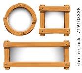 wood frame | Shutterstock .eps vector #719108338