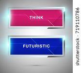 rectangle technology banner... | Shutterstock .eps vector #719110786