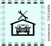 car in the garage icon ... | Shutterstock .eps vector #719116006