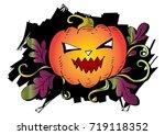 halloween pumpkin | Shutterstock .eps vector #719118352