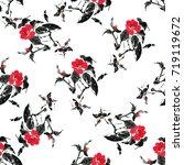 seamless floral pattern... | Shutterstock . vector #719119672