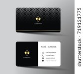 modern business card template... | Shutterstock .eps vector #719121775