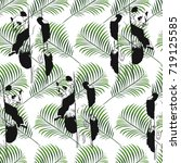 seamless pattern with cute... | Shutterstock .eps vector #719125585