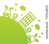 green ecological illustration | Shutterstock .eps vector #71912815